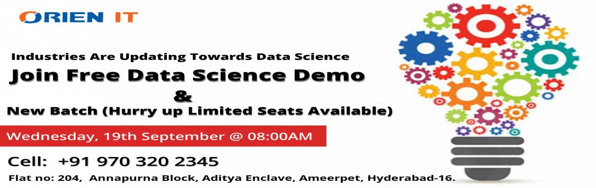 Hurry up  Grab the opportunity of enhancing your Data Science Training in Hyderabad career skills by enrolling in this course Demo and join to gain sk