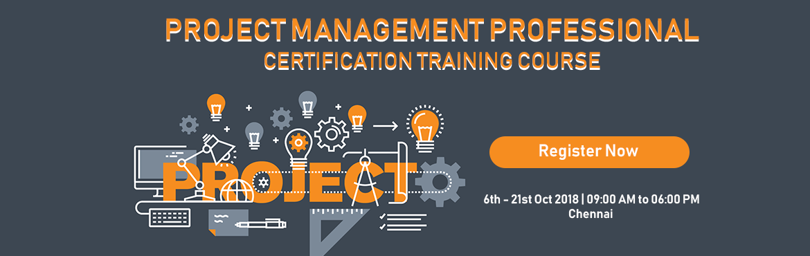 Book Online Tickets for PMPCERTIFICATION TRAINING COURSE IN CHEN, Chennai.  Details: Date: Oct 06 - Oct 21 2018 Standard Price: INR 17999 Early Bird Price: INR 14999  Early Bird Date: 25th Sep 2018   Course Description Enroll for Graspskills 3-day instructor-led PMP® certification training course conducte
