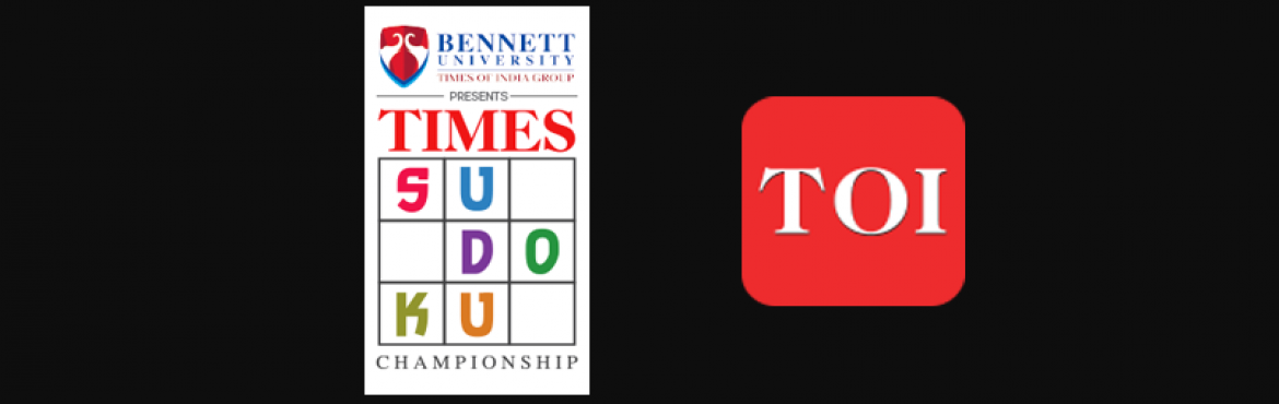 Book Online Tickets for The Times of India Sudoku Championship c, Mumbai. The Times Sudoku Championship, flagship tournament of the Times of India enters its 13th edition this year. One of India's longest running Sudoku Championships, it provides the winners with an opportunity to represent India at the World Sudoku