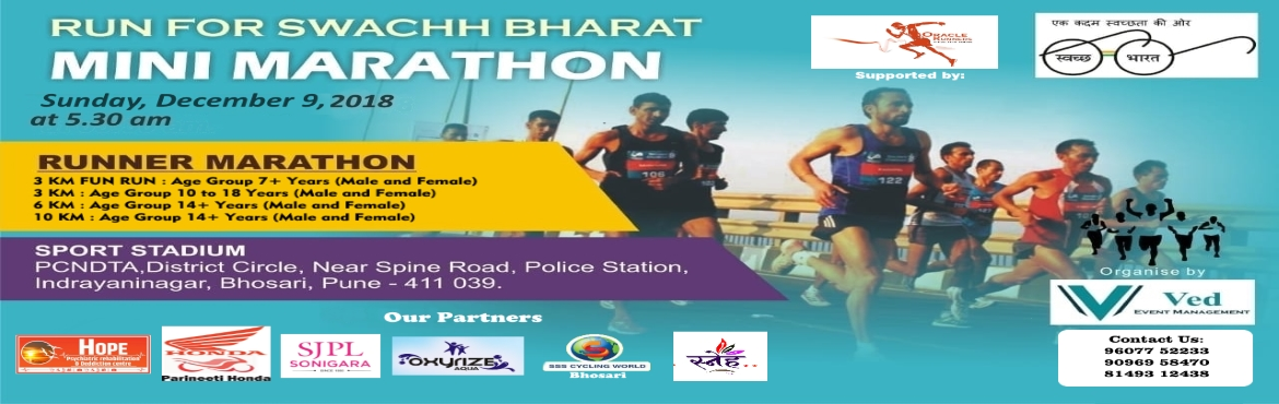 Book Online Tickets for RUN FOR SWACHH BHARAT, Pune. Ved Event Management is presenting RUN FOR SWACHH BHARAT to spread the message of cleanliness. Prime Minister of Indialaunched the Swachh Bharat Abhiyan or Clean India Mission on the birth anniversary of Mahatma Gandhi on Oct