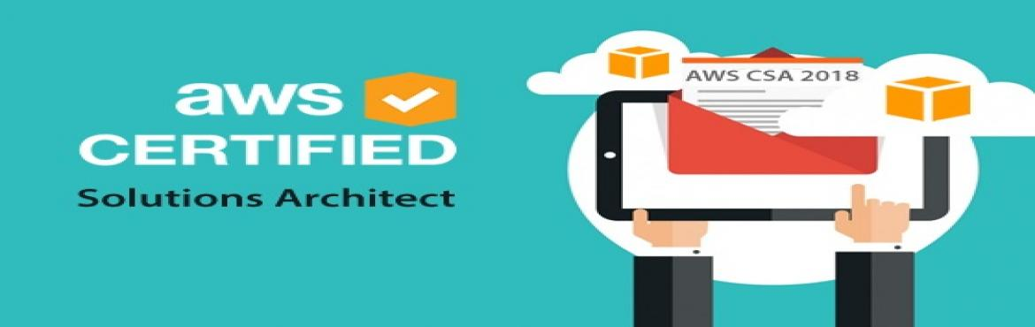 Book Online Tickets for AWS CERTIFIED SOLUTIONS ARCHITECT - Onli, Hyderabad.   DESCRIPTION   The AWS Solutions Architect Certification Training Course is a primer course designed to help you pass the AWS Certified Solutions Architect Associate Exam with ease. The course provides essential hands-on training on design