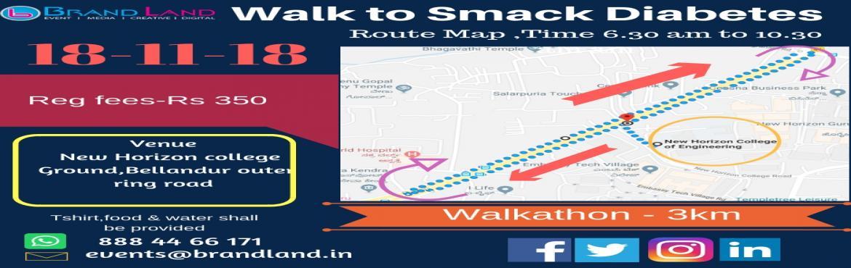 Book Online Tickets for walk to smack diabetes, Bengaluru. \