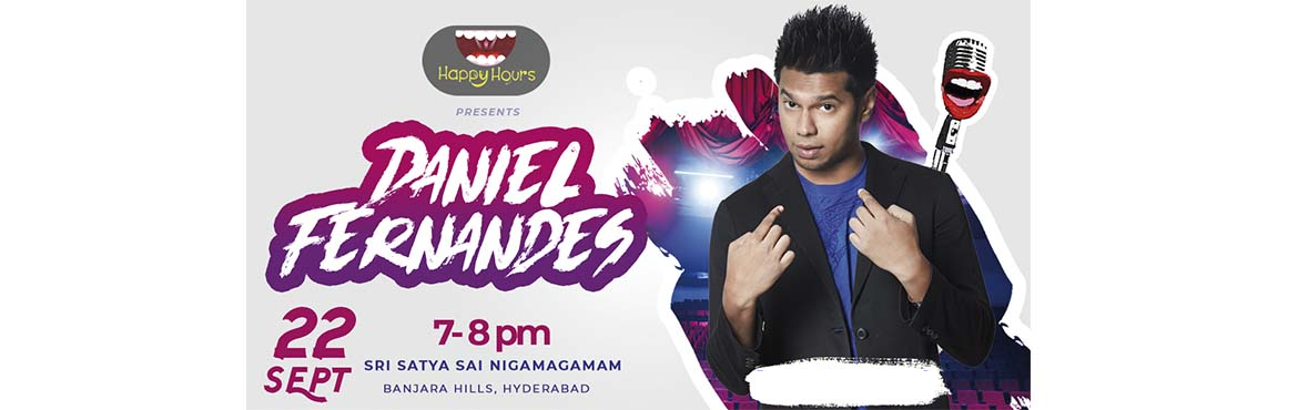 Book Online Tickets for Standup Comedy Show by Daniel Fernandes , Hyderabad. With the hectic work stress of Hyderabad punching,Happy Hours is all about making people laugh their hearts outwithrib-tickling comedy initiating to offer regular gigs. Offeringmultiple forms of comedy, from improv to scripted