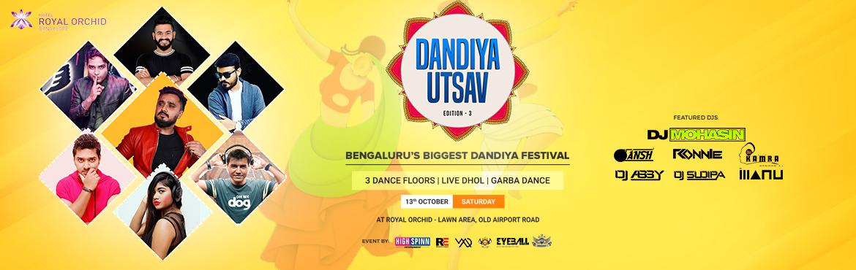 Book Online Tickets for Dandiya UTSAV at Royal Orchid Lawn Area , Bengaluru. ••••••••••••••••••••••••••••••••••••••••&bul