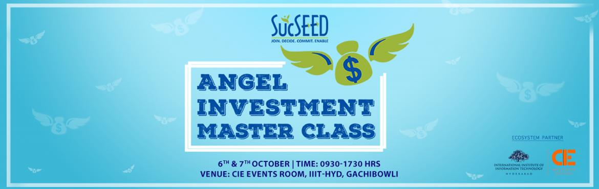Book Online Tickets for Angel Investment Master Class, Hyderabad. We would try to cover all these elements in interactive format in these 2 days, with help of Industry Practioners: Day1:  Investment life cycle  Different stages of Startup Company  Different Stages of Funding/ Steps What do we look for inv