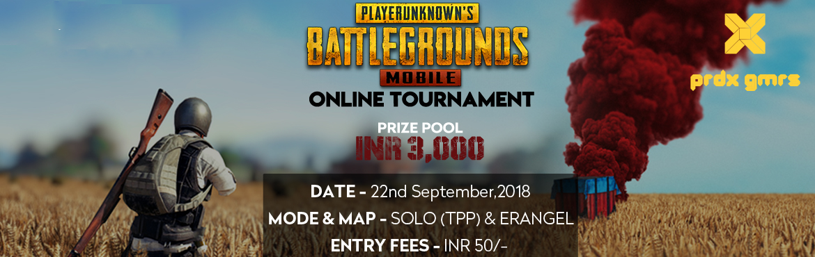 Book Online Tickets for PUBG Mobile - Online Tournament, Mumbai.  Winner Winner Chicken Dinner!   Paradox Gamers are proud to bring you their first PUBG Mobile - Online Tournament.   Prizepool - INR 3000!   1st Place - INR 1200 2nd Place - INR 600   3rd - 4th Place - INR 300   5th - 8