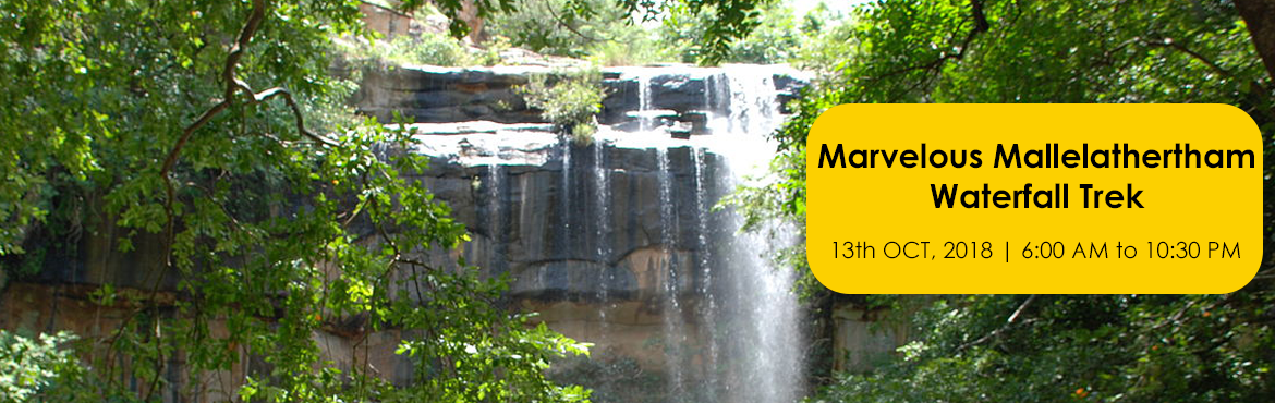 Book Online Tickets for Marvelous Mallelathertham Waterfall Trek, Hyderabad. The Marvelous Mallela Theertham Waterfall TrekWhere: Mallela Theertham near SrisailamDifficulty Level: Easy to Medium Who Can Join: Every One?Objective: Trekking which includes forest walk, Climbing Terrains, Bird Watching, Photographywe will book pr