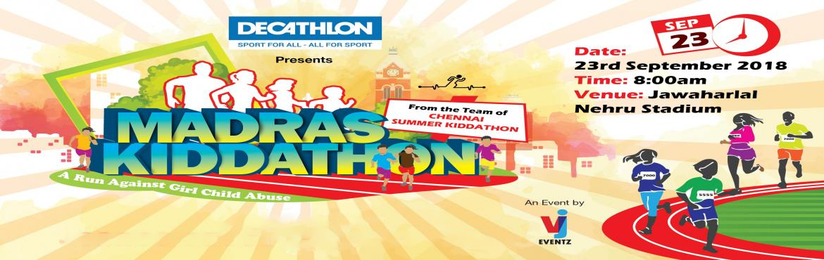 Book Online Tickets for Madras Kiddathon 2018, Chennai. Madras Kiddathon is a Fun Run for kids along with parents is a first of its kind and running successfully in various cities by VJ Eventz. It is not only a flag bearer of Health and Fitness also to create awareness about social issues among Children.