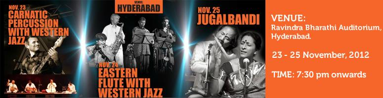 Book Online Tickets for November Fest 2012, Hyderabad. November Fest 2012:  1.Two Oceans -Carnatic percussion with Western Jazz:     Event Description Date & Timings Register online    Two Oceans -Carnatic percussion with Western Jazz:  Carnatic percussion with Wester