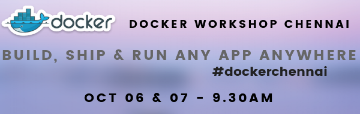 Book Online Tickets for Docker Workshop Training Chennai , Chennai. Docker Container Hands-on Workshop Training Chennai - 2 Days               Docker is a computer program that performs operating-system-level virtualization, also known as \