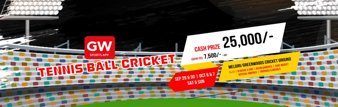 Book Online Tickets for Tennis Ball Cricket, Hyderabad. Tournament Format:  League cum Knockout   Each team plays minimum 3 matches  11 players a side  8 overs a side.   Entry: 9000/-   Cash Prize Rs 25,000/- (Winners & Runners)   Gifts: GW Pro Subscription (Worth 3000/-)