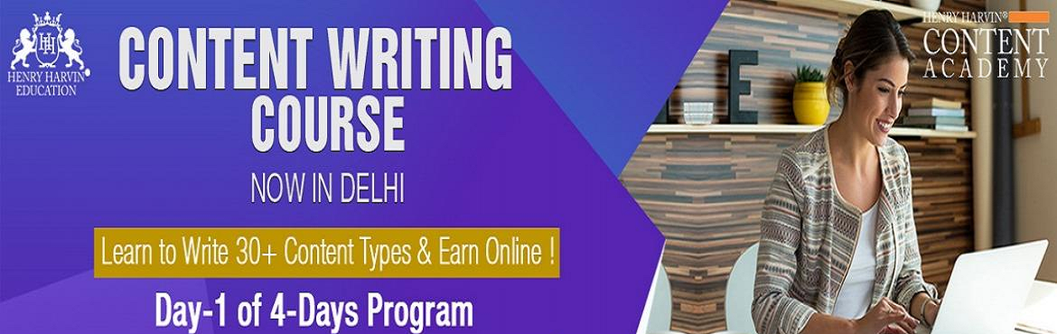 Book Online Tickets for Content Writing Course by Henry Harvin E, New Delhi.  Henry Harvin Educationintroduces 32hours Classroom Based Training and Certification course on content writing creating professional content writer, marketers, strategists. Gain Proficiency in creating 30+ content types and become a