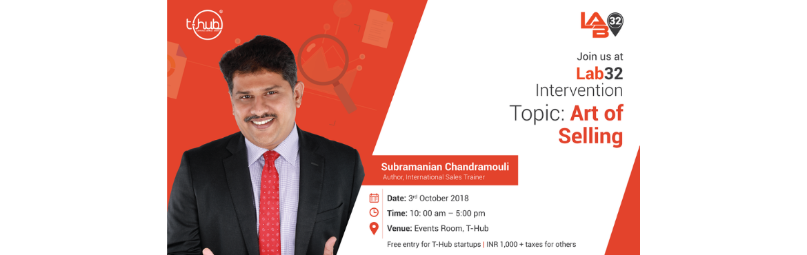Book Online Tickets for Art of Selling, Hyderabad. About the Workshop: Decode the \'Art Of Selling\' with Subramanian Chandramouli, the expert himself. Be a part of his interactive session as he sheds light on the most relevant issues of sales. The material of this workshop will help you fa