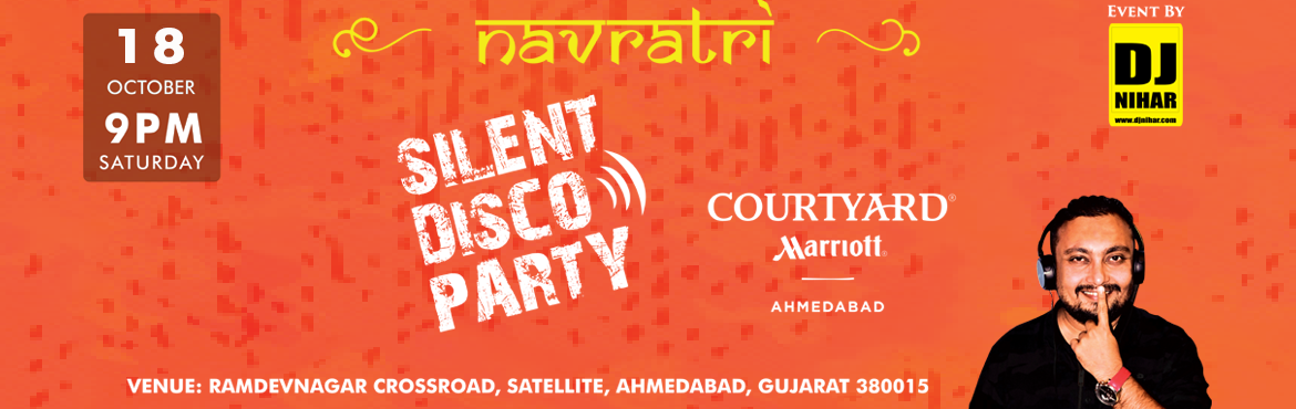 Book Online Tickets for SILENT DISCO PARTY by DJ NIHAR, Ahmedabad.  SILENT DISCO PARTY by DJ NIHAR   A silent disco is an event where people dance to music listened to on wireless headphones. Rather than using a speaker system, music is broadcast via a radio transmitter with the signal being picked up by w
