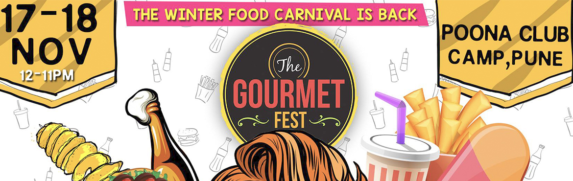 Book Online Tickets for The Gourmet Fest Round 3, Pune. Pune get ready for the biggest food Festival this winter The feel Good Family Food Festival edition 3 is Back this Season Taste and savour yummy food from over 50+ pop ups featuring curated menu from Some of the best restaurants, Cafe\'s ,F
