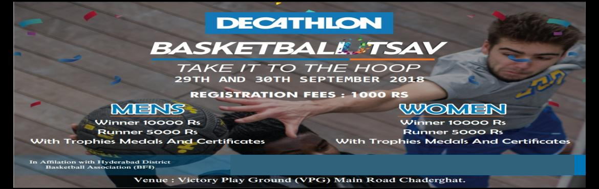 Book Online Tickets for Basketball Utsav Make it to the Hoop, Hyderabad. TARMAK Basketball Tournament make it to the hoop September 29th AMD 30th Timing 10am. Venue: Victory Playground (VPG) Chaderghat X road. Registration fee 1000rs Per team Mens winner 10000rs runner 5000rs Women winner 10000rs runner 5000rs With medals