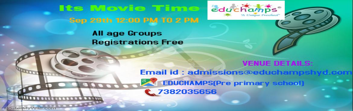Book Online Tickets for Its movie time, Hyderabad. Its movie time.A movie \