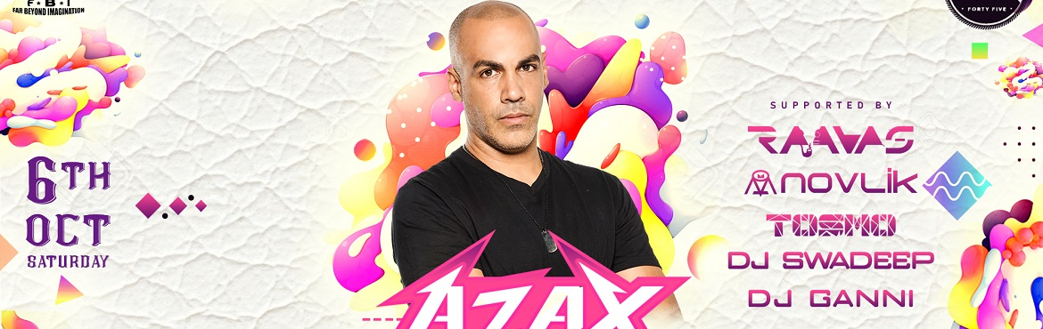 Book Online Tickets for Azax in Hyderabad, Hyderabad. The party season starts with October & for the first Saturday, is there an artist as energetic & innovative as Azax? Hyderabad\'s psyfamily has been waiting for long and finally we\'ve all together managed to make it!  ===  Artists: