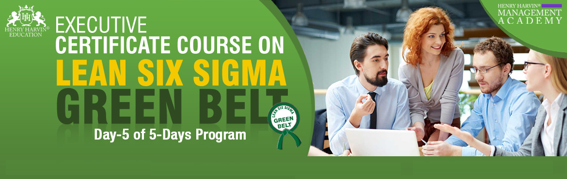 Book Online Tickets for Lean Six Sigma Green Belt Course by Henr, New Delhi. Henry Harvin Education introduces 1-days/4-hours Live Online Training Session.  Based on this training, examination  is conducted,  basis which certificate is awarded. Post that, 6-months/12-hours Live-Online Action Oriented