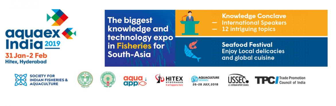 Book Online Tickets for AquaEx India 2019 , Hyderabad. AquaEx is connected to more than 150,000 farmers, researchers, decision-makers and various other professionals of the aquaculture ecosystem & fisheries industry.  AquaEx provides the largest platform for businesses to connect and grow their