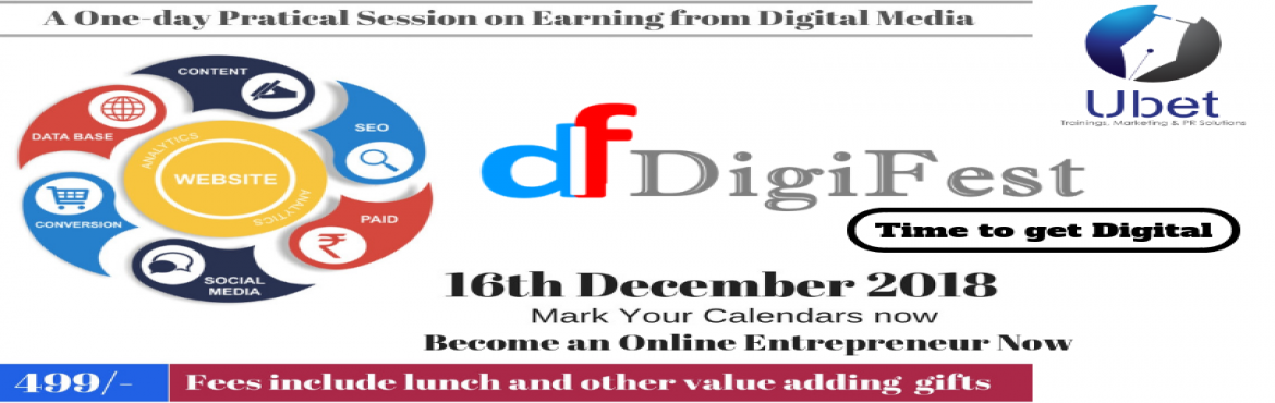 Book Online Tickets for DigiFest, Visakhapat. Is your dream to have complete freedom to work when you want and from where you want?  Are you ready to build a blog that can generate sales of affiliate products 24/7 on autopilot?  Blogging is one way to share your expertise and—at
