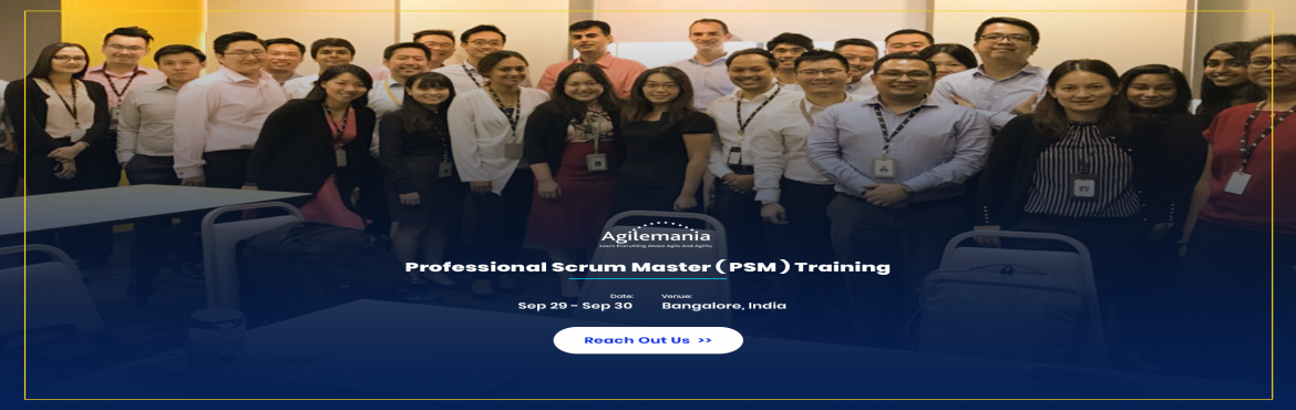 Book Online Tickets for PROFESSIONAL SCRUM MASTER (PSM) TRAINING, Bangalore. Overview Opportunity to learn all about Scrum and the responsibility of a Scrum Master. Attend Professional Scrum Master (PSM) training in Bangalore, India by a Professional Scrum Trainer (PST) from Scrum.org. The Professiona