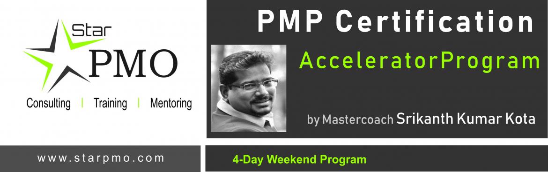 Book Online Tickets for StarPMO PMP Certification Accelerator Pr, Hyderabad. StarPMO has announce dates for its flagship PMP Certification Accelerator Program at Hyderabad.  Workshop Dates:29th, 30th Sept 2018 & 6th , 7th Oct 2018 Location:Office No 610,Topaz Plaza, Amritha Hills, Somajiguda, Hyderabad.  \'Lim