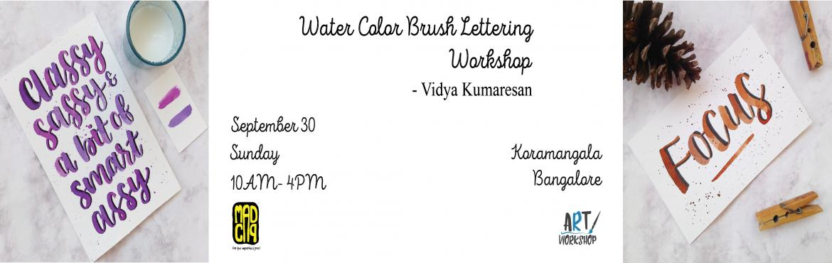 Book Online Tickets for Watercolor Brush Lettering Workshop by V, Bengaluru. I am (@thewishingink) a Self taught artist from Namakkal and the founder of The Wishing Ink, which mainly focuses on making personalised handdrawn art. I specialize in hand lettering, Calligraphy, Water coloring and have two years of experience in Gr