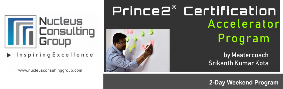 Book Online Tickets for NCGs Prince2 Certification Accelerator P, Hyderabad. About The Event  Nucleus Consulting Group has announce dates for its flagship Prince2 Certification Accelerator Program. Workshop Dates: 20th,21st Oct 18 Location:610, Topaz Plaza, Amrutha Estates, Near Tanishq Show Room, Somajiguda, Hydera