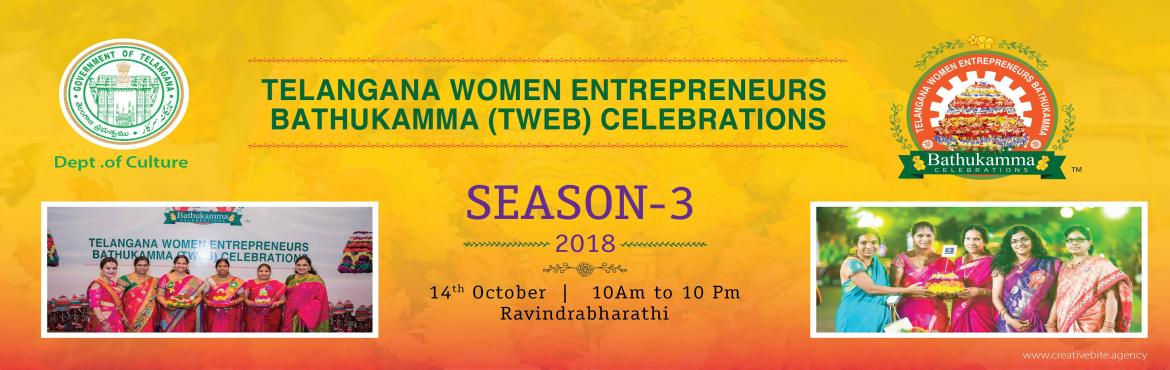 Book Online Tickets for TELANGANA WOMEN ENTREPRENEURS BATHUKAMMA, Hyderabad.  Telangana Women Entrepreneurs Bathukamma ( TWEB ) is an annual festive event conceptualized and executed by WOMENERGY
