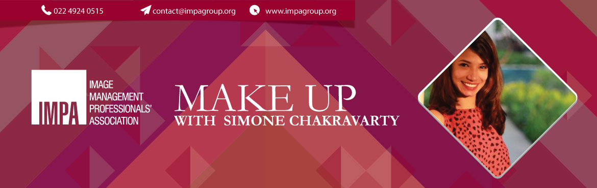 Book Online Tickets for Make Up with Simone Chakravarty, Mumbai. Simone has been practicing as make-up artist and hair stylist since last 5 years. She completed her makeup course from the esteemed 'Christine Valmy International Institute of Beauty' in 2013, followed by a 3-year long apprenticeship unde
