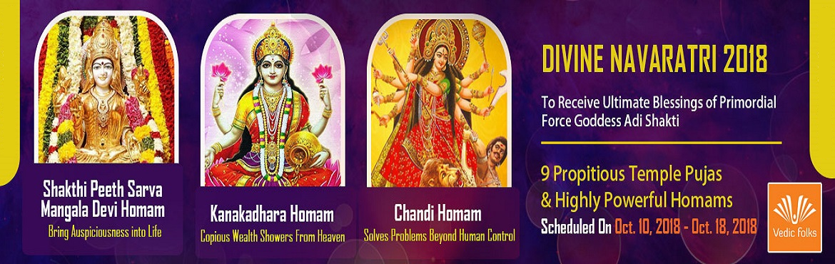Book Online Tickets for Navratri Special Rituals, Chennai. NAVRATRI, 2018 One of the most sacred and divine nights of worship of primordial Mother Adi Shakti is the Navaratri, or nine nights. The goddess when worshipped in her multiple forms grants ultimate blessings to her devotees like prosperity and conde