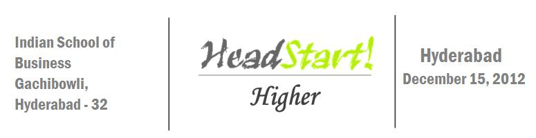 Book Online Tickets for Headstart Higher Hyderabad (Startup) - D, Hyderabad. 