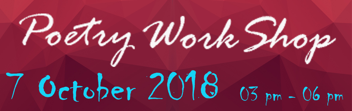 Book Online Tickets for Poetry Workshop and Reading, Bengaluru. First time in Bangalore at Atta Galatta, East Patronizer Publication House is going to organize a Poetry Event and Workshop. A well known poet Lovely Goswami will mentor fresh pen talent and prepare them and their art to print ready. On 7th October 2