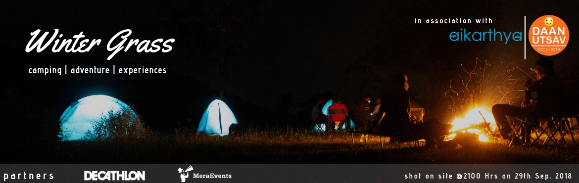 Book Online Tickets for Camp Winter Grass | Camping | Adventure , Vikarabad. Work stress? No stress? Looking to do something exciting this weekend? Wishing for a getaway into the wilderness, far from the hustle-bustle of the city? The answer to all this is very near. Winter Grass presents to you an overnight campi