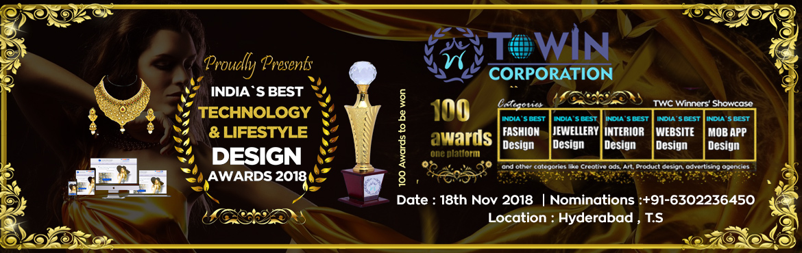 Book Online Tickets for INDIA Best Technology  Lifestyle Design , Hyderabad. TWC Design Award and Competition is the largest, most prestigious and influential design accolade, the Winners achievement in design. A\' Design Award Winner Logo, symbolizes exceptional design excellence in your products, projects and services &nbsp