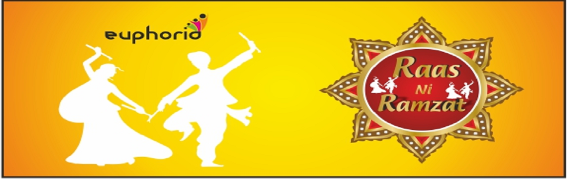 """Book Online Tickets for Euphoria - Raas Ni Ramzat 2018, Ahmedabad. With the Navratri fever setting in, Kvents brings to you """"Raas Ni Ramzat 2018"""". Navratri is all about nine nights of devotion, dance, music, lights and making tons of memories. Come and celebrate your Navratri with our notable and promine"""