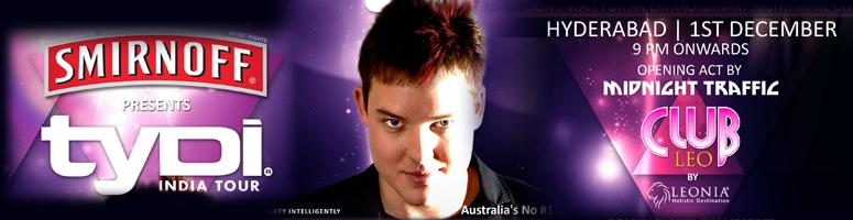 Book Online Tickets for TYDI India Tour, Hyderabad.  For all lovers of Trance music TYDI is touring India to enthrall you with his music. TYDI will perform at the Leo Club, Leonia on 1st December. TYDI or Tyson Illingworth is an Australian DJ and has been ranked 48th in the World DJ Rankings by