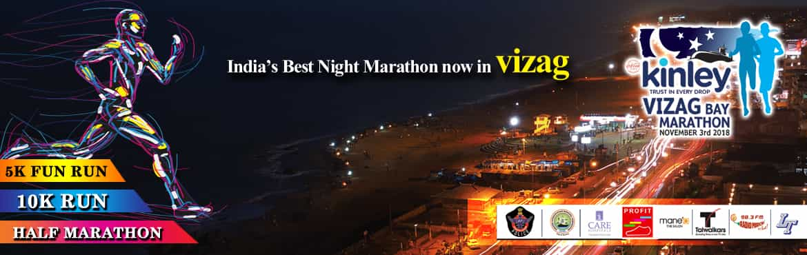 Book Online Tickets for Kinley vizag bay marathon, Visakhapat.   It is the biggest running event in the state of Andhra Pradesh and Visakhapatnam's largest community event with participants from armed forces, corporate sector, government sector, educational institutions and runners from international