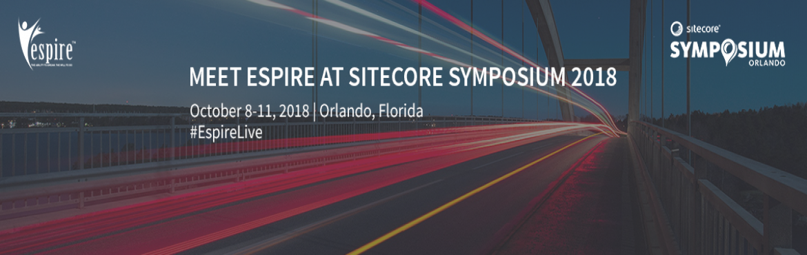 Book Online Tickets for Sitecore Symposium 2018 Orlando, Lake Buena.  Join us at Sitecore Symposium this year to discover emerging trends, digital advances and consumer adoption that are increasingly influencing customer expectations.  As a Sitecore Silver Partner, we are thrilled to sponsor and exhibit at