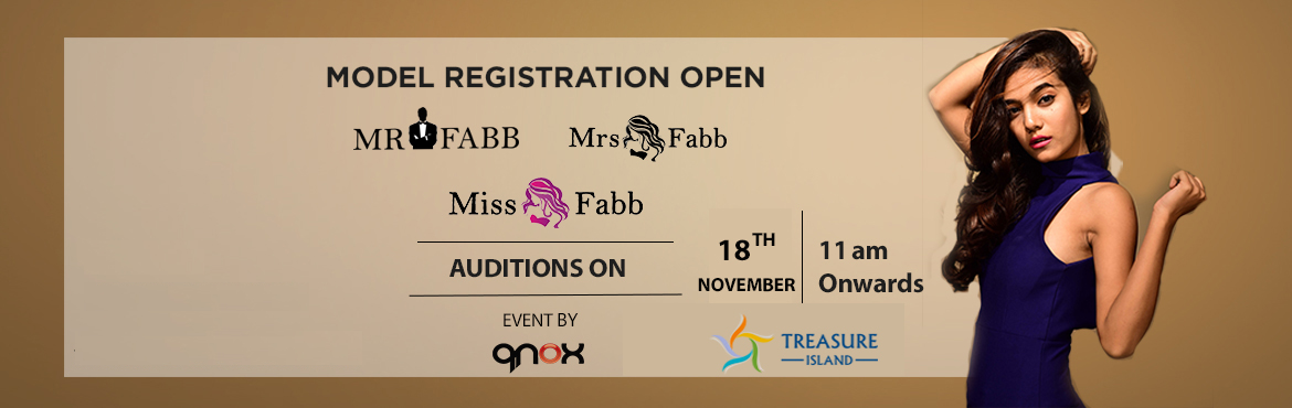 Book Online Tickets for Miss Mr Mrs Fabb Indore Auditions, Indore. Audition for biggest beauty pageant of Indore city. (Miss Fabb Indore / Mrs Fabb Indore / Mr Fabb Indore)   Once you are selected in the audition you will go through the training and grooming session which will be held on 23rd, 24th, 25th,30th&n
