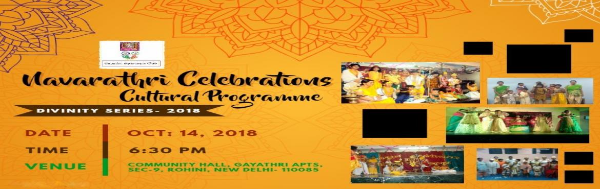 Book Online Tickets for Navarathri Celebrations Cultural Program, Delhi. Navarathri Celebrations Cultural Programme: Divinity Series 2018Ae Haalo! Navratri is almost here! Aavo raas ramiye garba no rang, sajan ne sang! Grab your dandiyas & colours & get ready to dance the night away at the best Navratri event