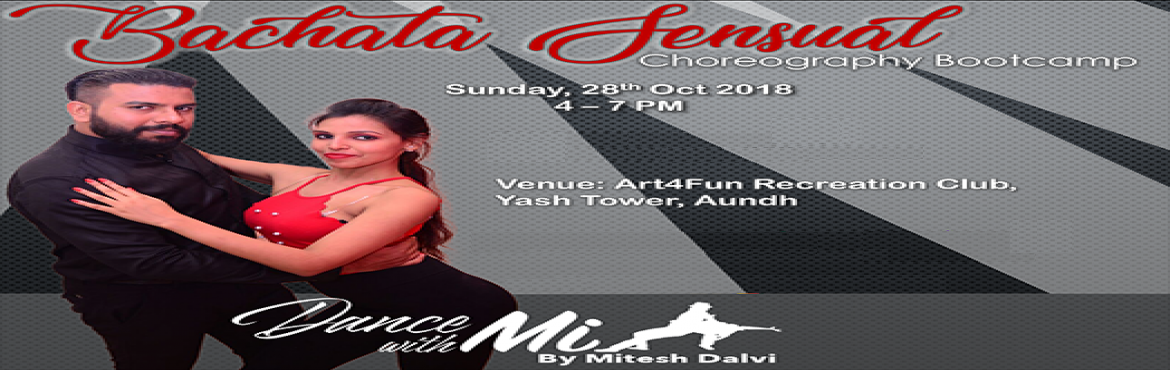 Book Online Tickets for Bachata Sensual Choreography Bootcamp, Pune. Hello Pune, Dance With Mi brings you the dance style which is capturing the world slowly!!  Bachata Sensual Choreography Bootcamp is here!!  We bring you super fun, elegant dance style which has captured and mesmerized world.