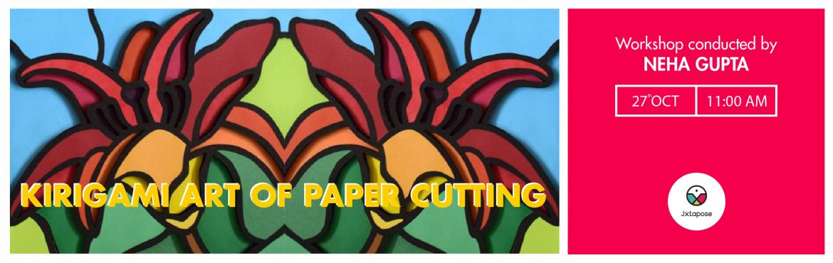 Book Online Tickets for KIRIGAMI ART OF PAPER CUTTING, Hyderabad. Join Neha Gupta at Jxtapose on the 27th of October from 11 PM to learn Kirigami. It is an old Japanese art form of folding and cutting paper into decorative objects and shapes. Sign up for this workshop now and be fully prepared to apply this skill o