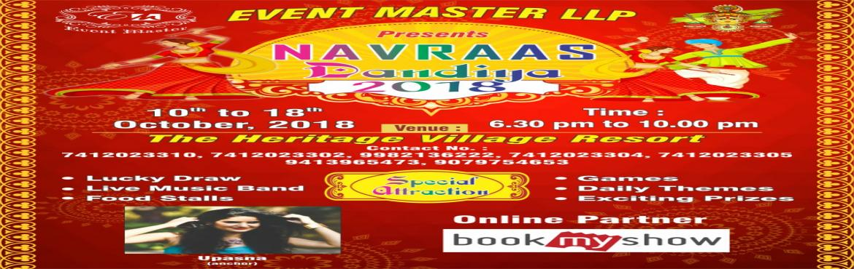 Book Online Tickets for Nanraas Dandiya Nights 2018 , Jaipur. Dandiya Nights 2018 at Heritage Village Resort Jaipur Entree :- Single @150/-        Couple @300/-        Family @400/- 02 +02