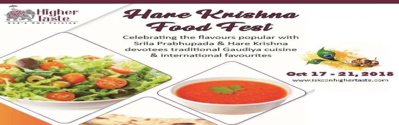 Book Online Tickets for Hare Krishna Food Fest, Bengaluru. Higher Taste restaurant celebrates \