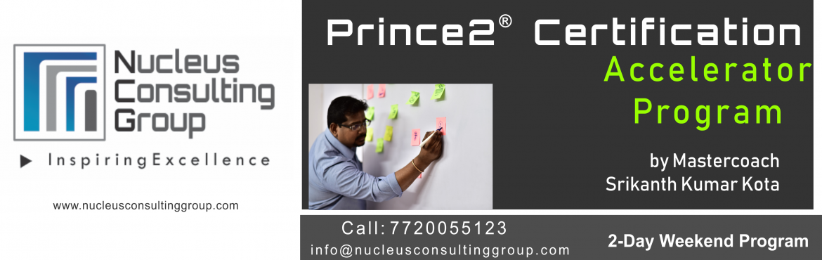 Book Online Tickets for NCGs Prince2 Certification Accelerator P, Pune. About The Event  Nucleus Consulting Grouphas announce dates for its flagship Prince2 Certification Accelerator Program. Workshop Dates:10th, 11th Nov 18. Location: B-4 ,Sukhwani Park, North Main Road, Koregaon Park, Pune.  \'Limited Numbe