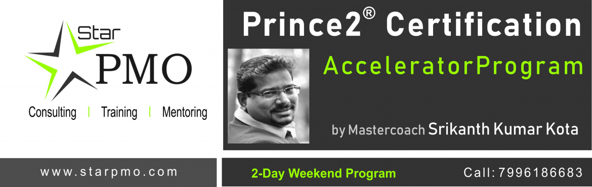 Book Online Tickets for StarPMO Prince2 Certification Accelerato, Pune. StarPMO has announce dates for its flagship Prince2 Certification Accelerator Program.  Workshop Dates: 10th, 11th Nov 2018. Location: B-4, Sukhwani Park, North Main Road, Koregaon Park, Pune  \'Limited Number of Seats' only Registrat