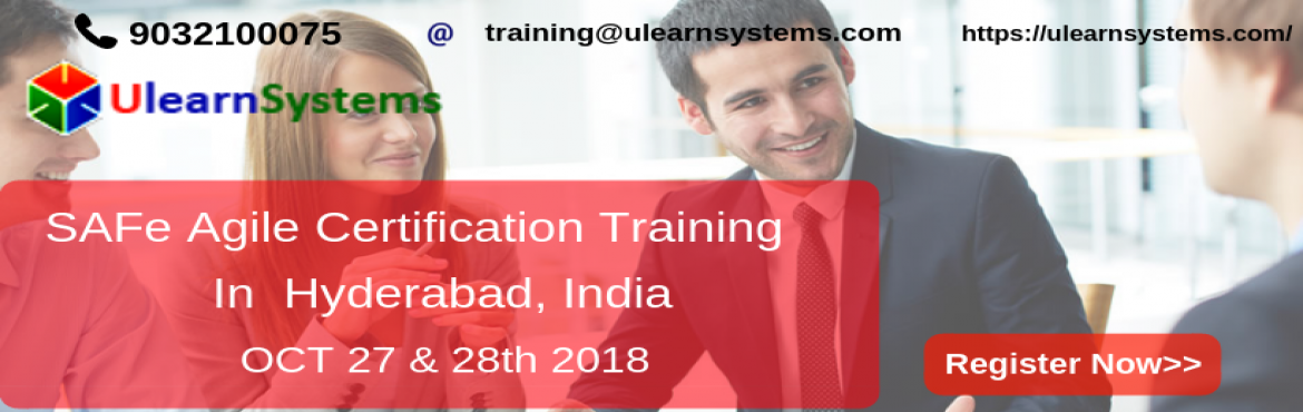 Book Online Tickets for Scaled Agile Framework Certification Tra, Hyderabad. Ulearn System\'s Offer Scaled Agile Framework Certification Training Course Hyderabad, India.   The Scaled Agile Framework® (SAFe®) is a complete guide or methodology for large-scale Agile project teams to execute an Agile transformation