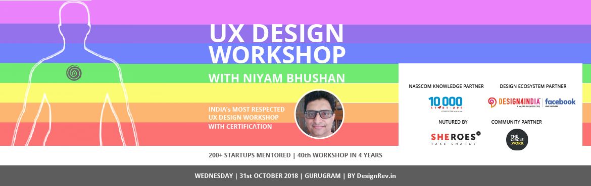 One-day workshop on on User-Experience UX Design. For mobile and tablet apps, web, UI, Internet-of-things (IoT). Gurgaon, Gurugram India, Niyam Bhusha